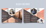 Unique Trifold Brochure Hexagon Corporate Identity Template