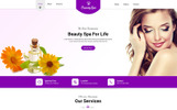 Plantilla PSD para Sitio de Salones de belleza