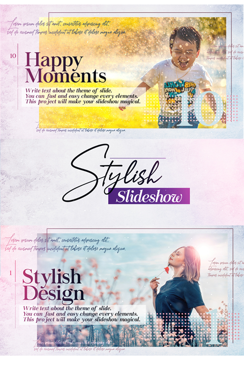 Stylish Slideshow After Effects Intro #82004