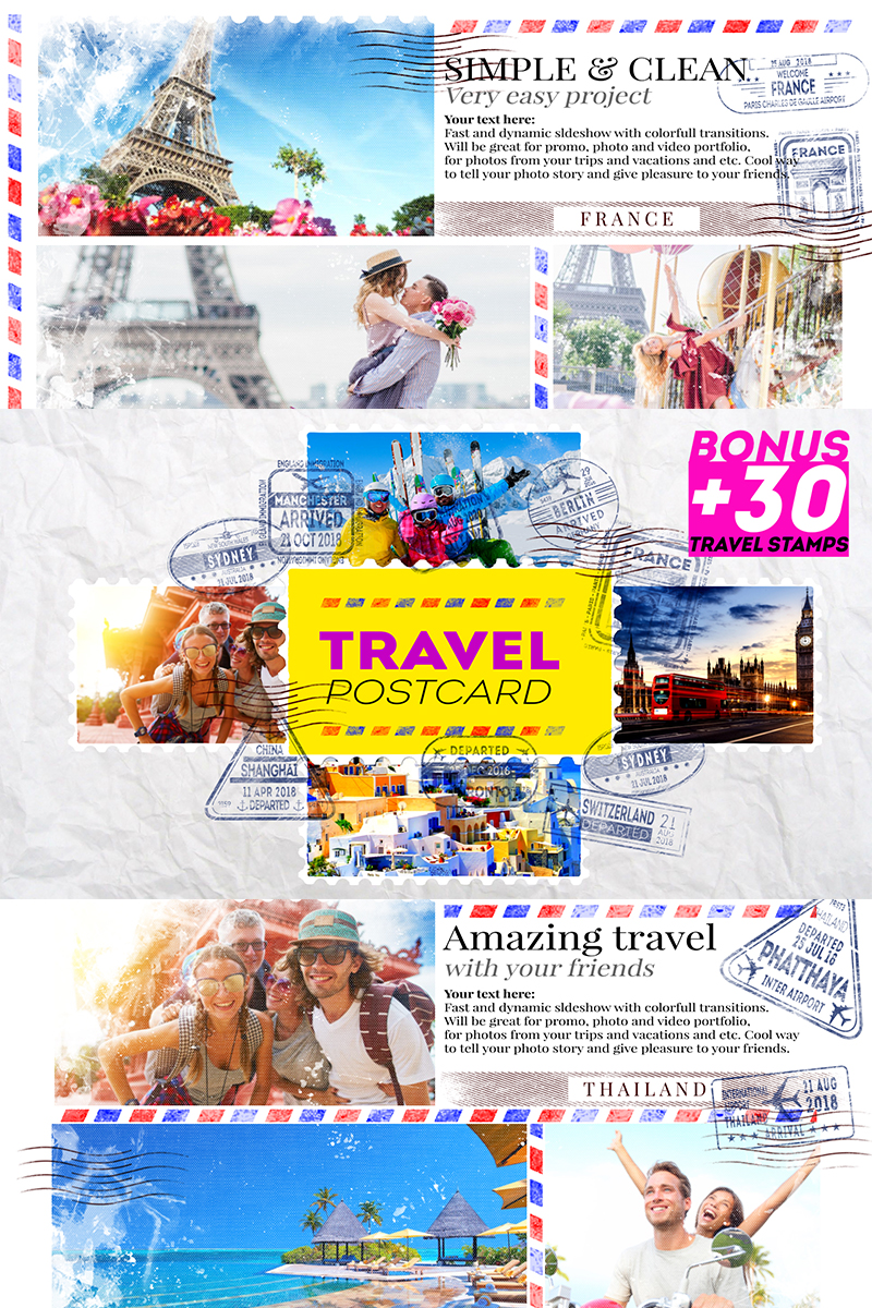 Travel Postcard After Effects Intro #82506