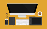"Illustration namens ""Flat Desk Scene Creator"""
