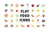 """Icon-Sammlungen Vorlage namens """"Flat Food"""" Großer Screenshot"""