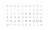 Vector Line Icons and Font Iconset Template Big Screenshot