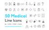 Zestaw Ikon Medical Line #82266 Duży zrzut ekranu