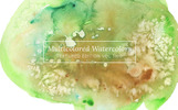 Multicolored Textured Watercolors Illustration