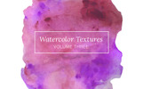 Purple Watercolor Textures Illustration