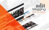 "Modello WordPress Responsive #82526 ""Adit - Blogging Made Easy"" Screenshot grande"