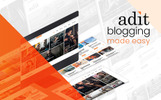 "Modello WordPress Responsive #82526 ""Adit - Blogging Made Easy"""