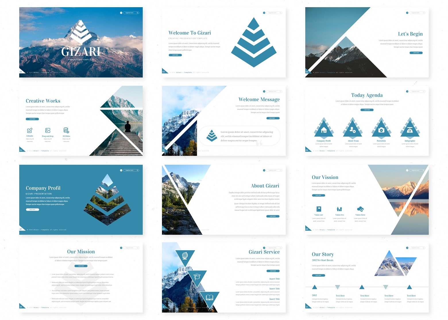 Gizari PowerPoint Template
