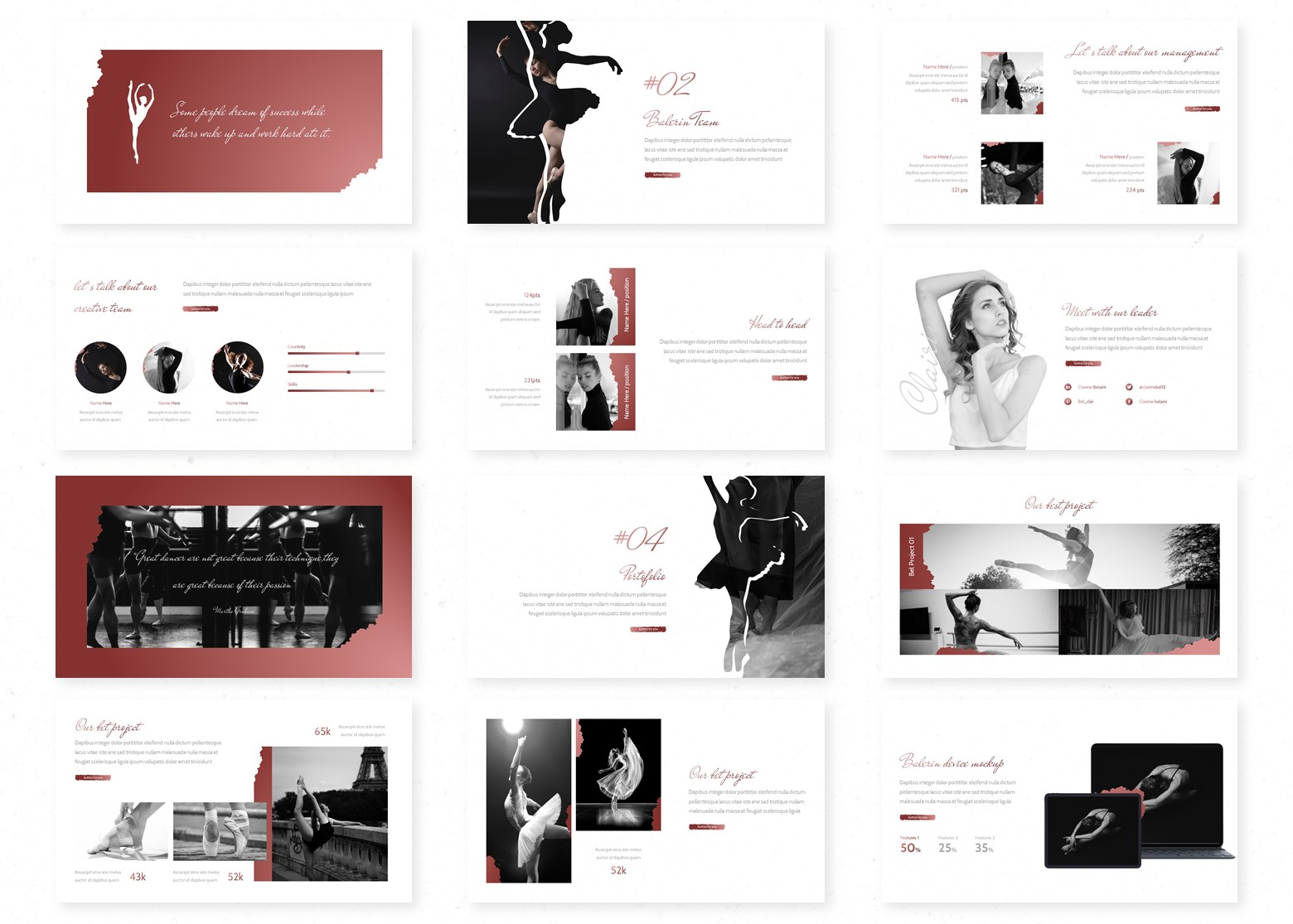 Balerin PowerPoint Template