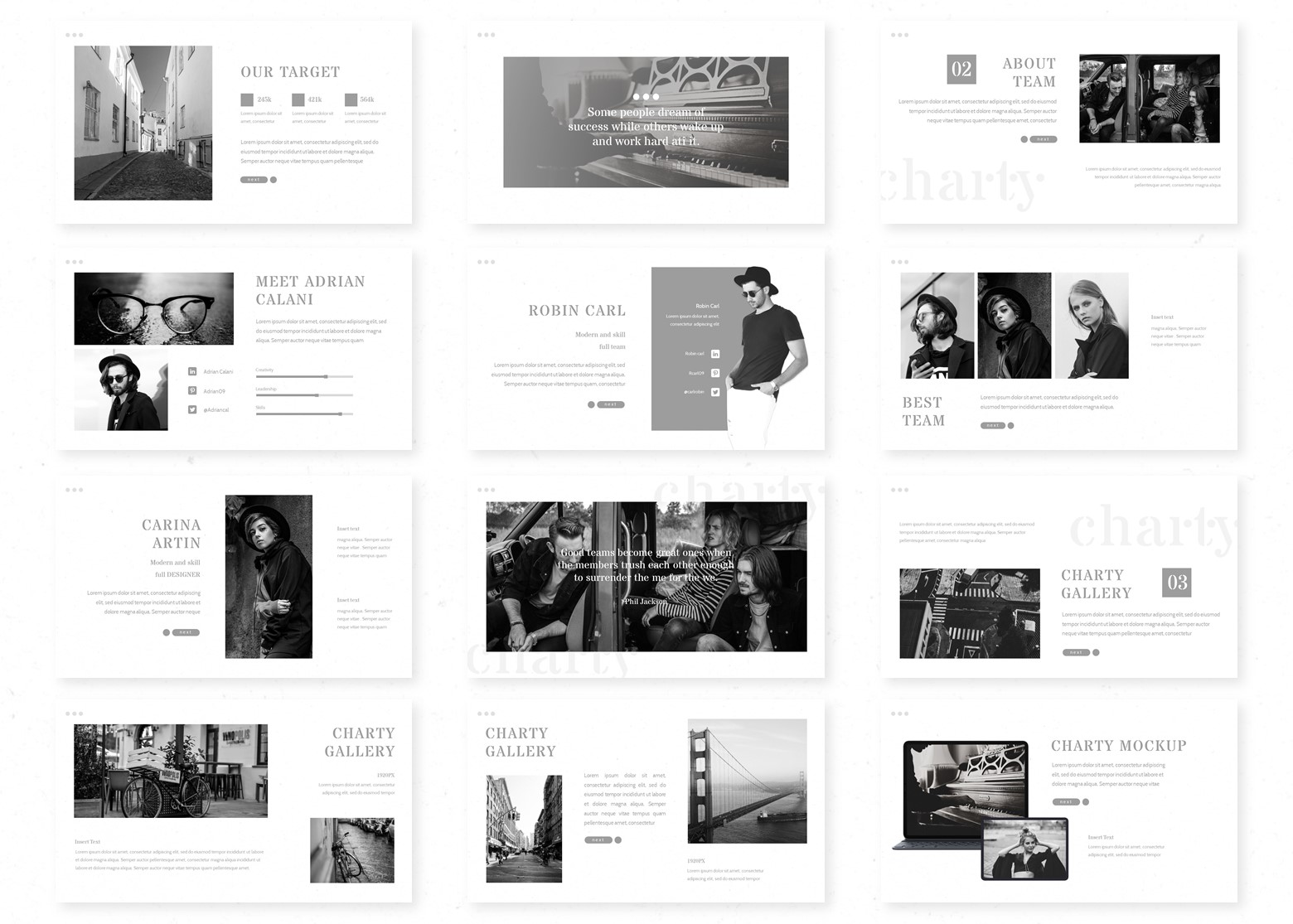 Charty PowerPoint Template