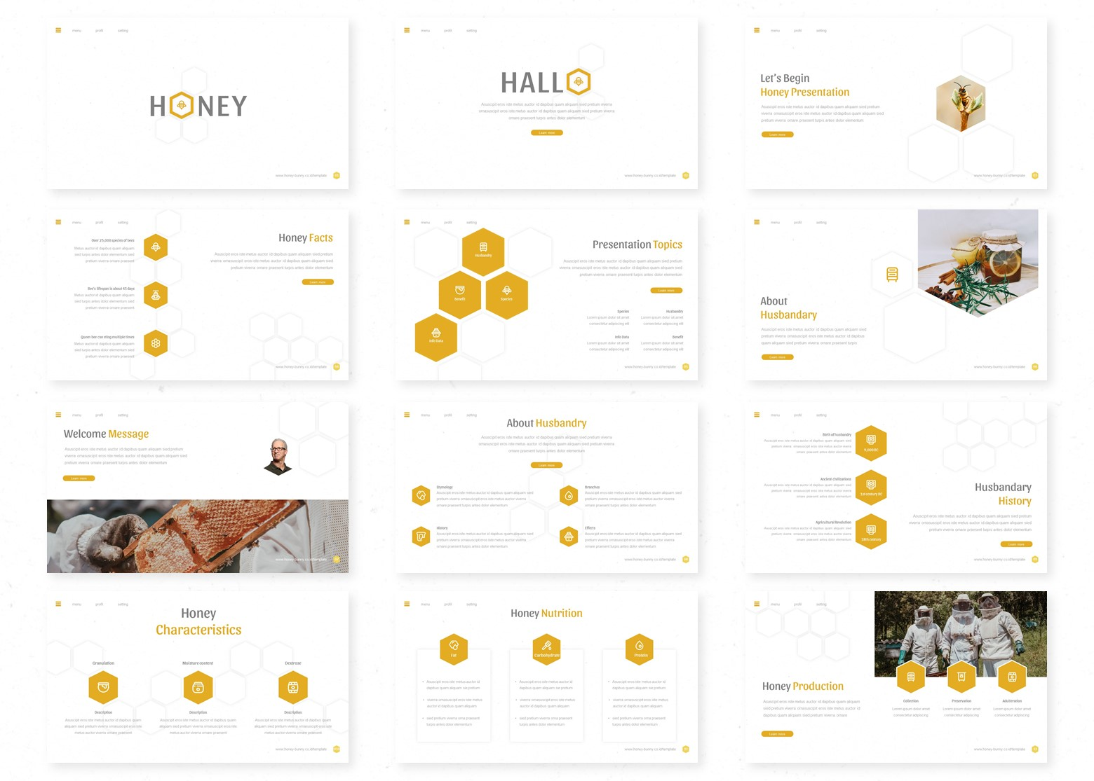Honey PowerPoint Template