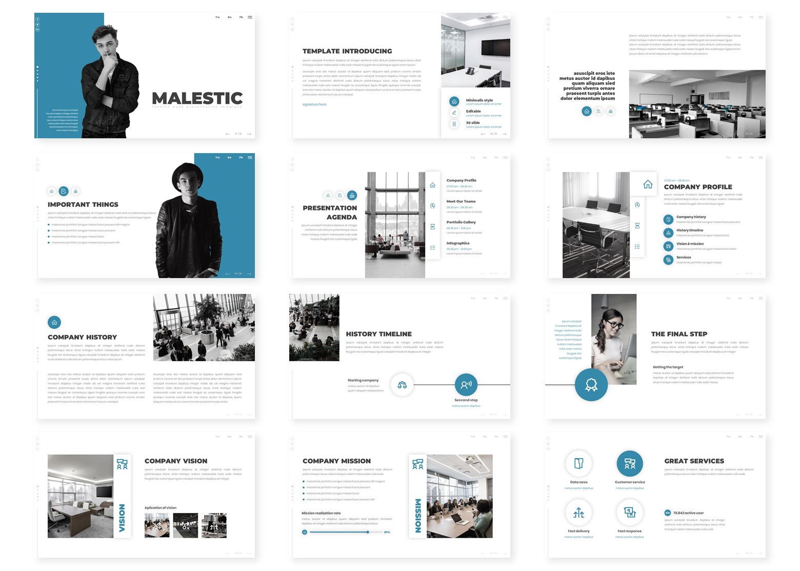 Malestic PowerPoint Template