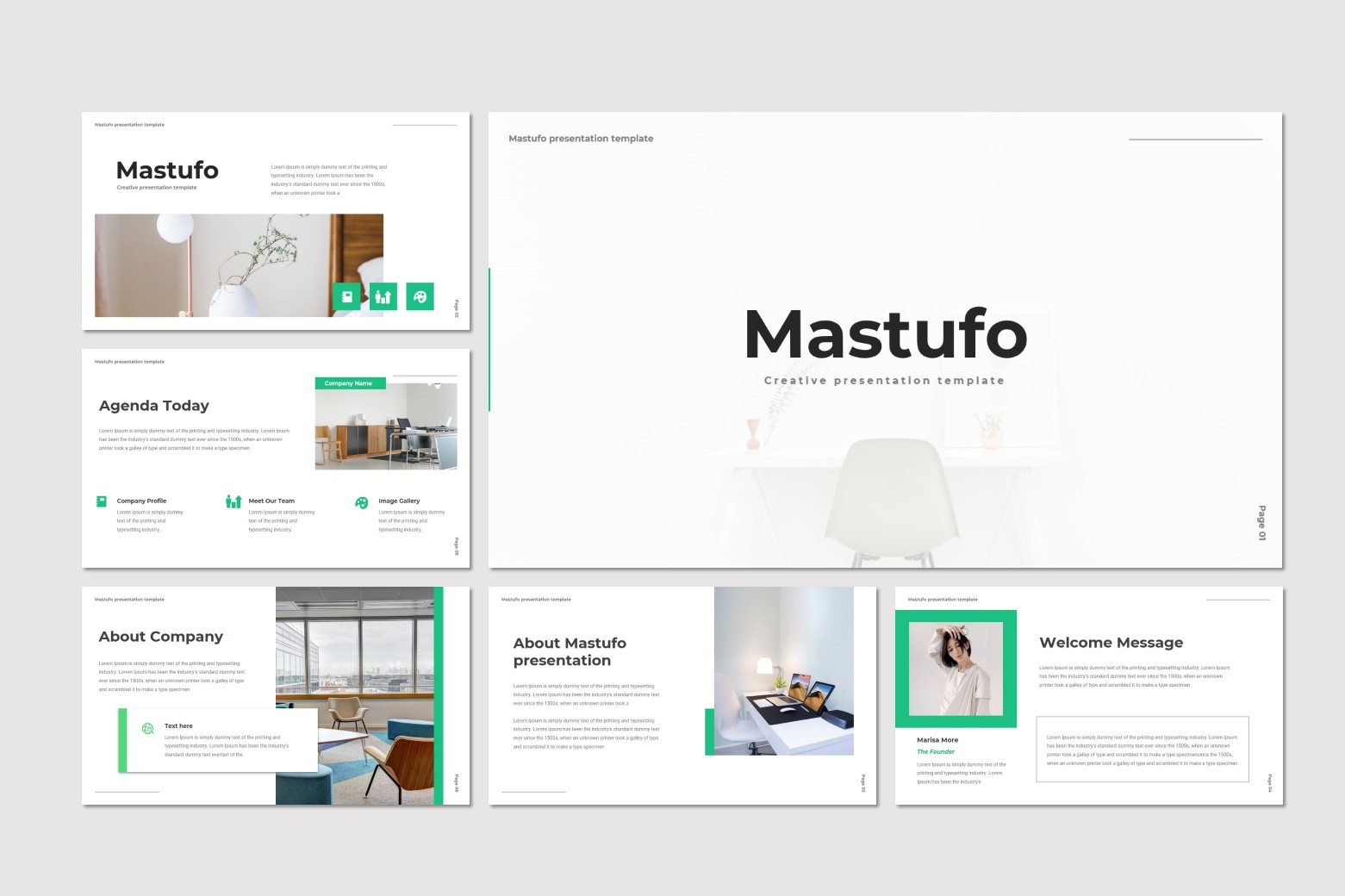 Mastufo PowerPoint Template