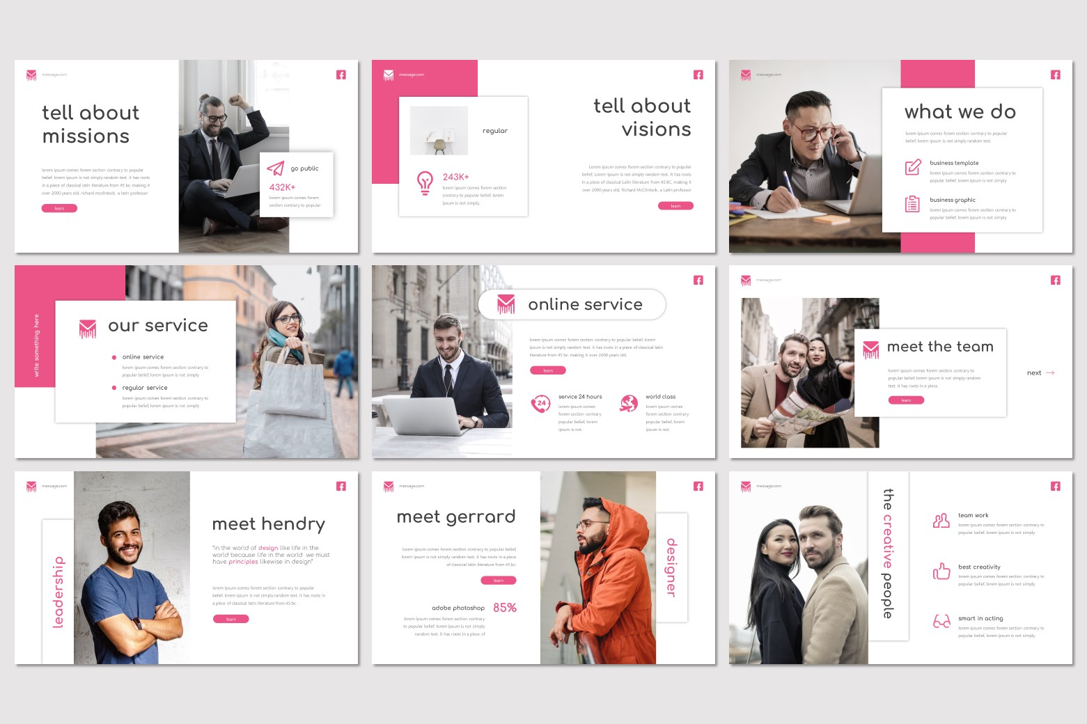 Message PowerPoint Template