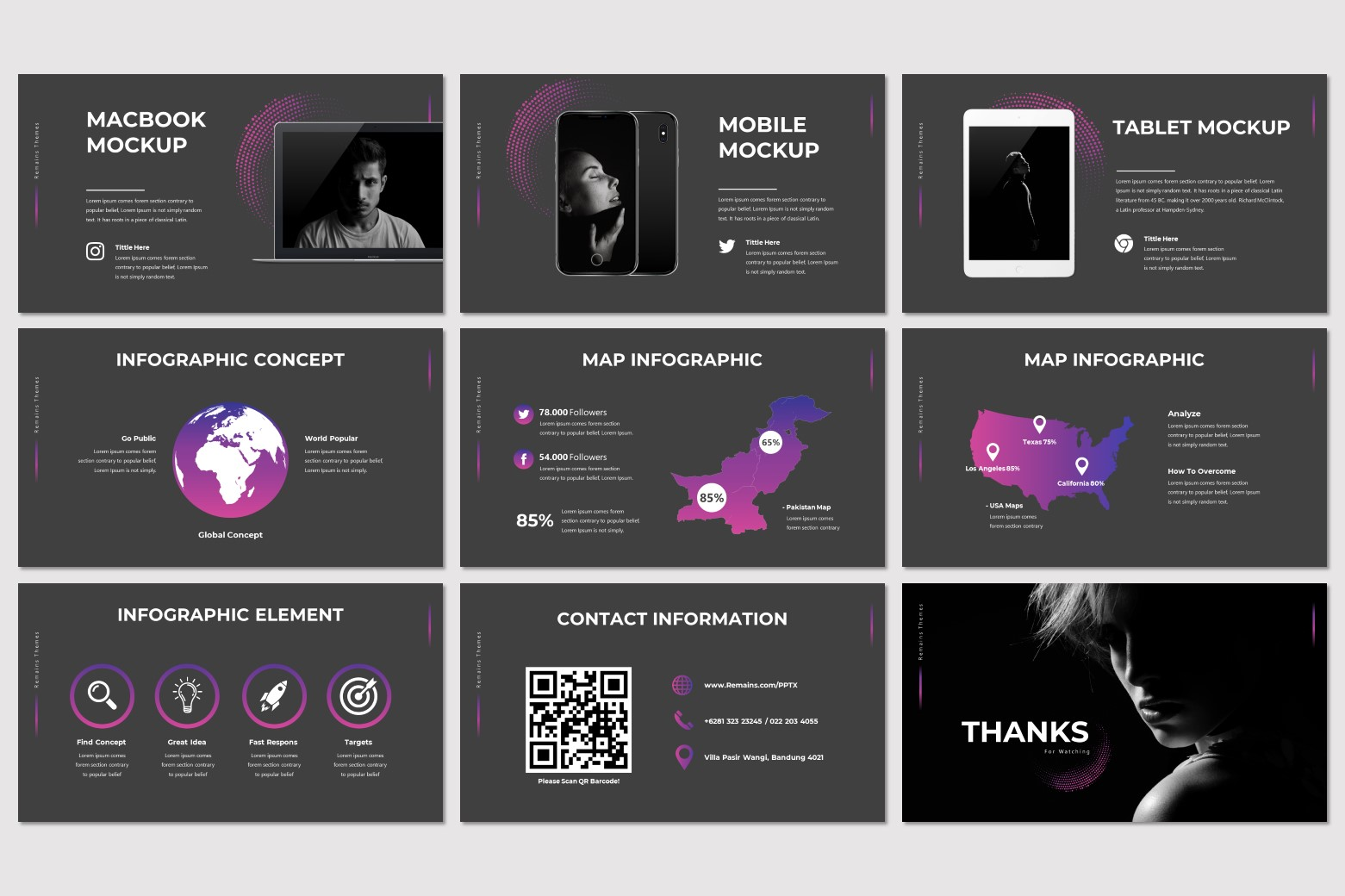 Remains PowerPoint Template