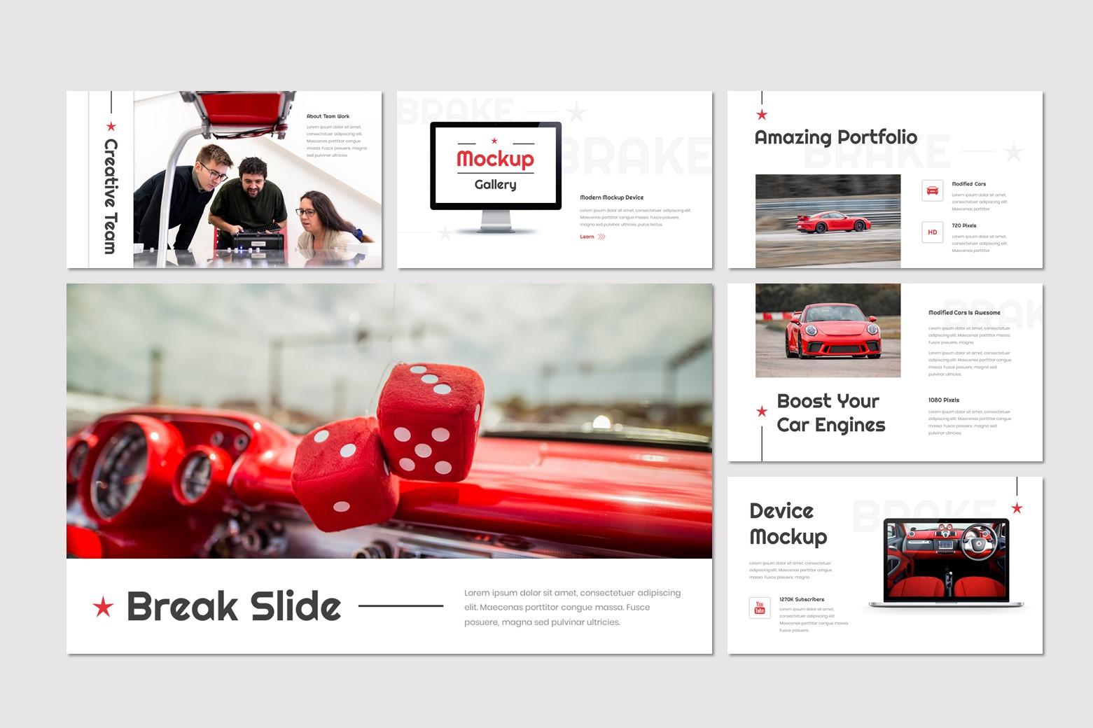 Brake PowerPoint Template