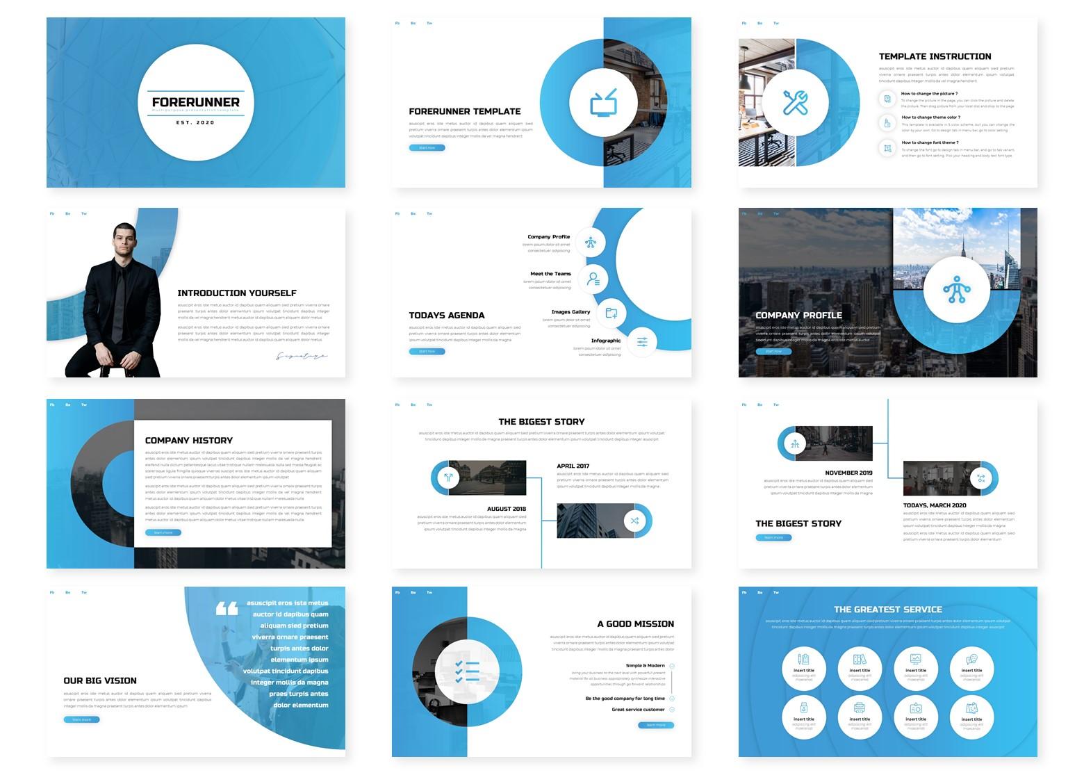 Forerunner PowerPoint Template