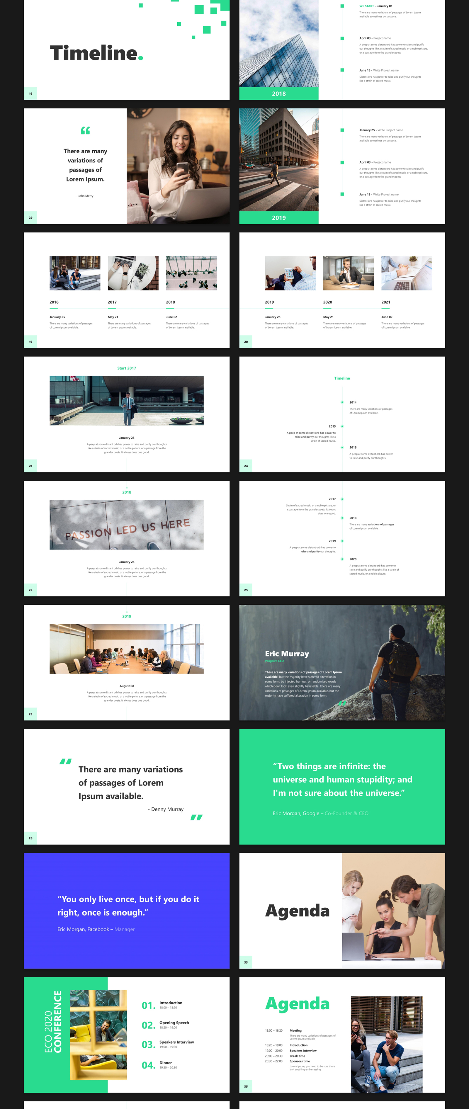 Business 2020 - Animated Presentation PowerPoint Template