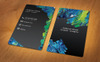Stylish Vertical Business Card Corporate Identity Template Big Screenshot