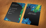 Stylish Vertical Business Card Corporate Identity Template