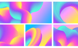 Abstract 3D Flow Backgrounds Vol.1 Illustration