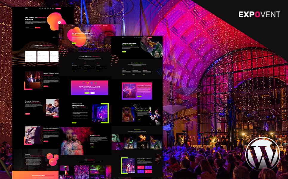 Event Booking & Gala Ticketing | Expovent WordPress Theme