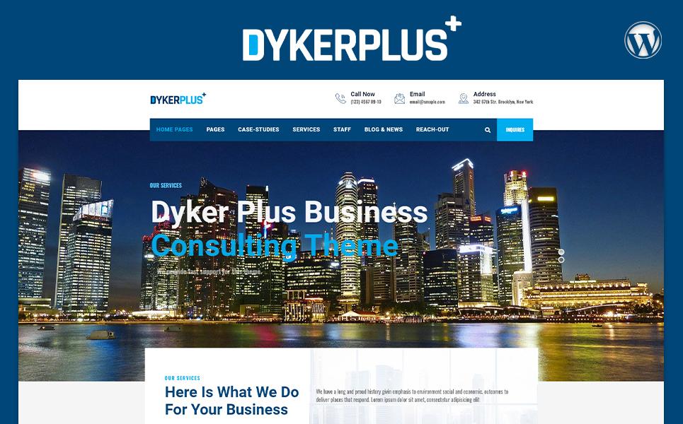 Dyker Plus Multipurpose Business  Consulting WordPress Theme