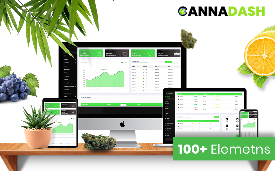 Cannadash | Cannabis & Weed Vendor CRM Dashboard Management system HTML5 Admin Template