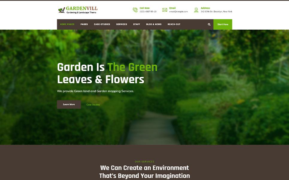 Gardenvill | Gardening & plantation WordPress Theme