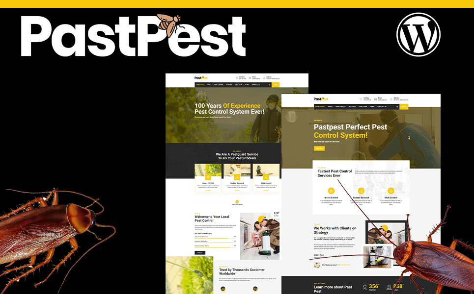 Pastpest | Pest exterminator WordPress Theme