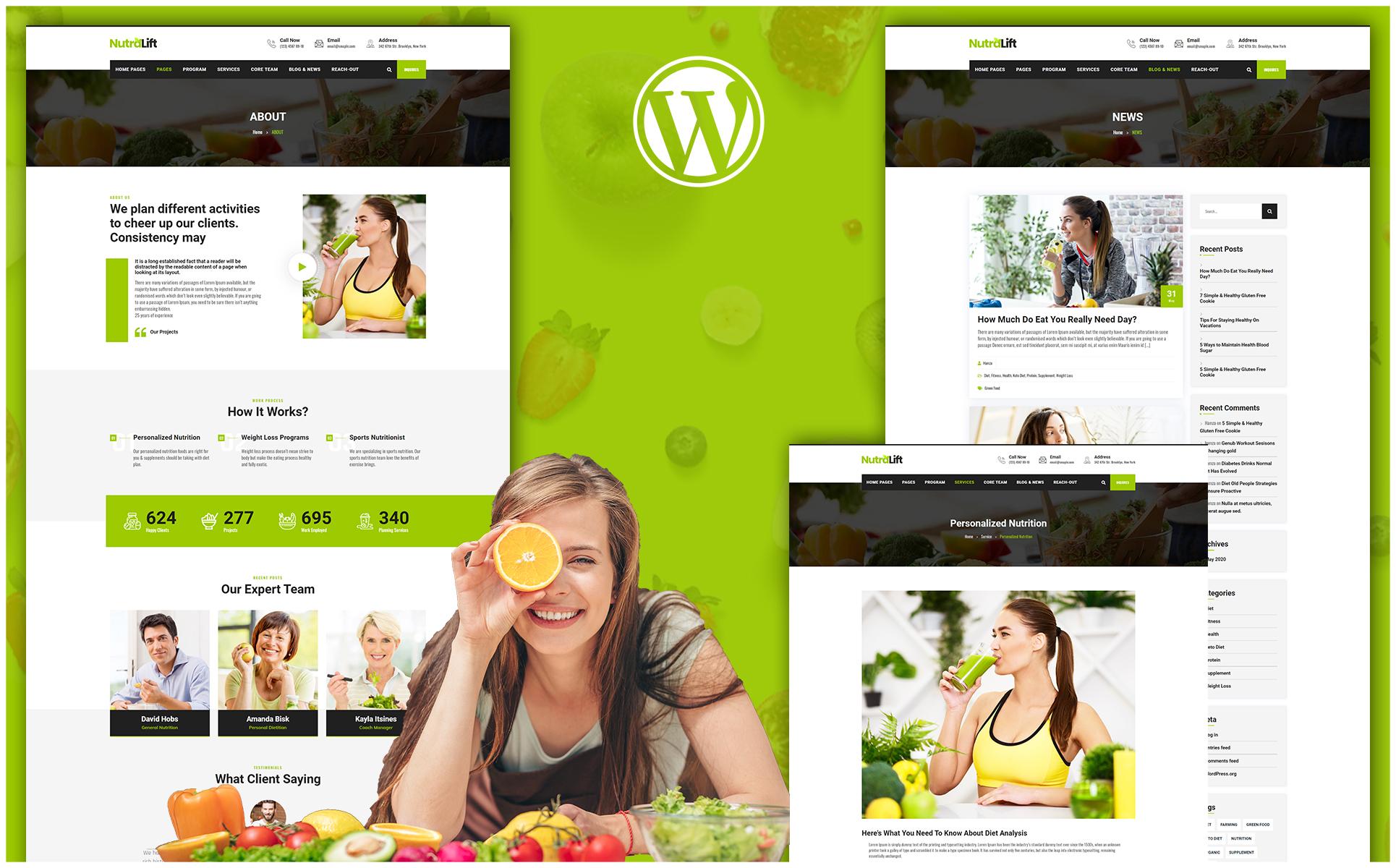 Nutralift | Wellness Nutritionist WordPress Theme