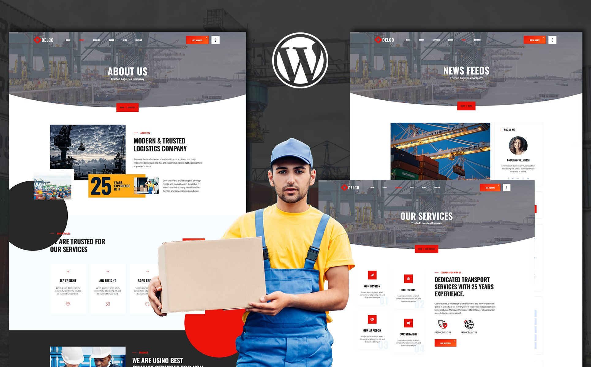 Delco | Cargo & Shipping WordPress Theme