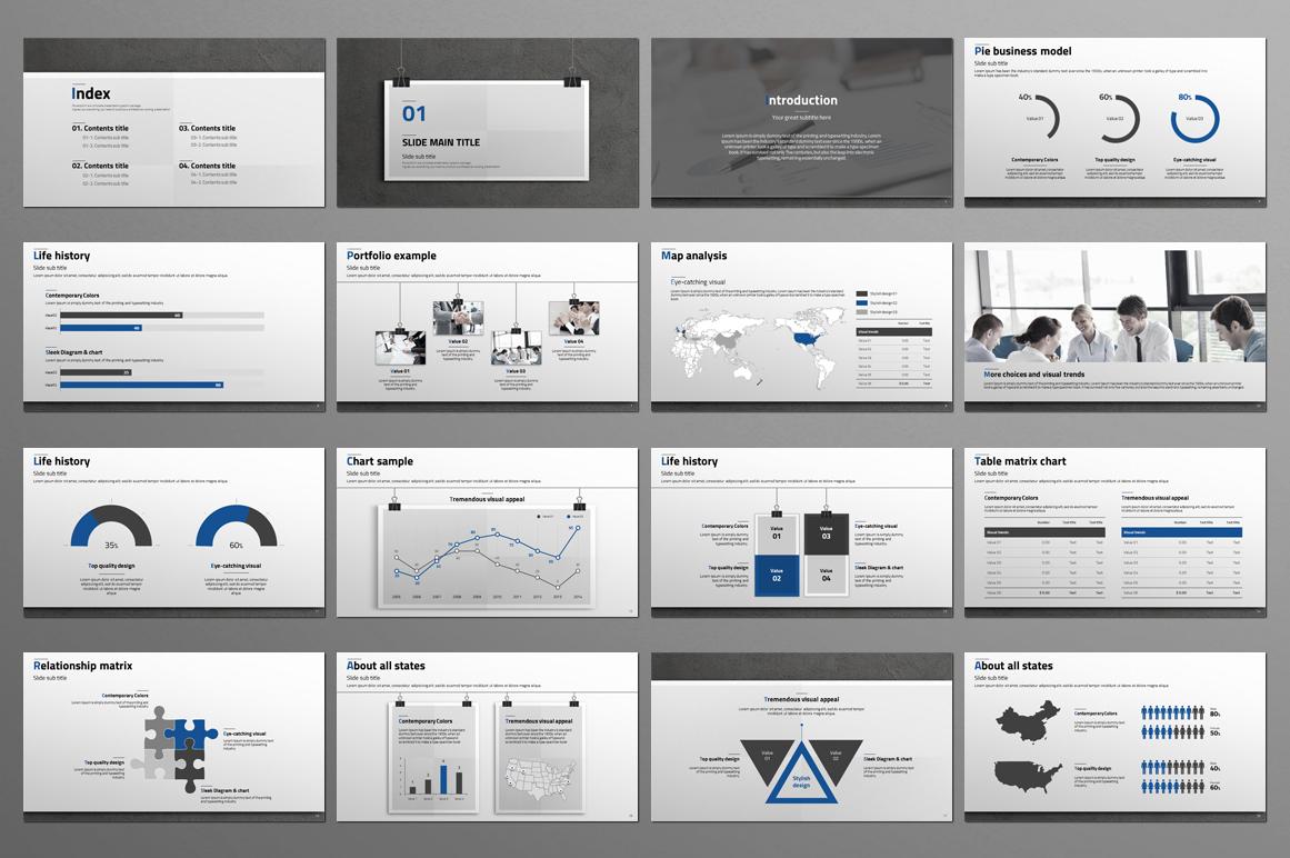 Premium Management Profile PowerPoint Template