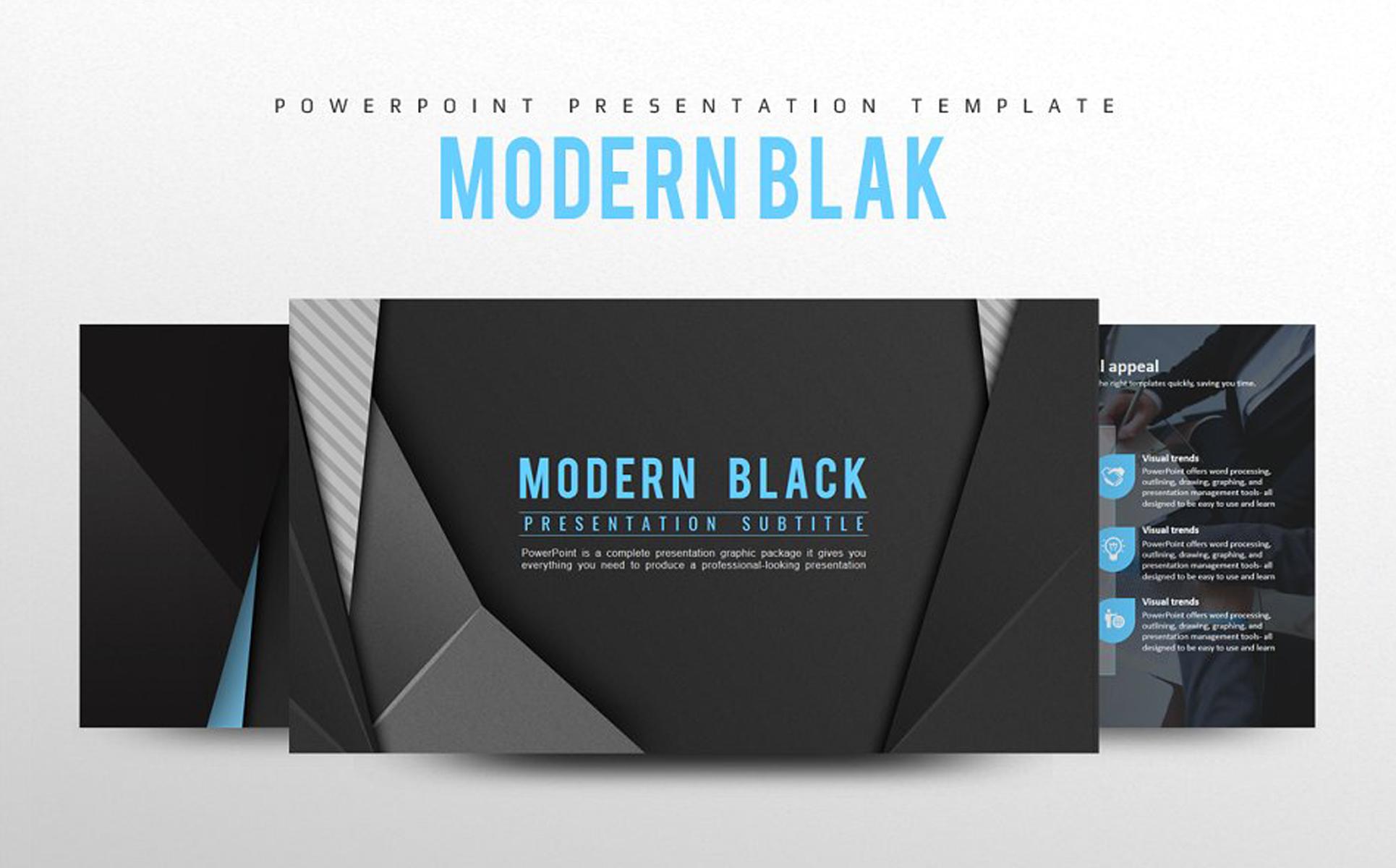 Modern Black PowerPoint Template
