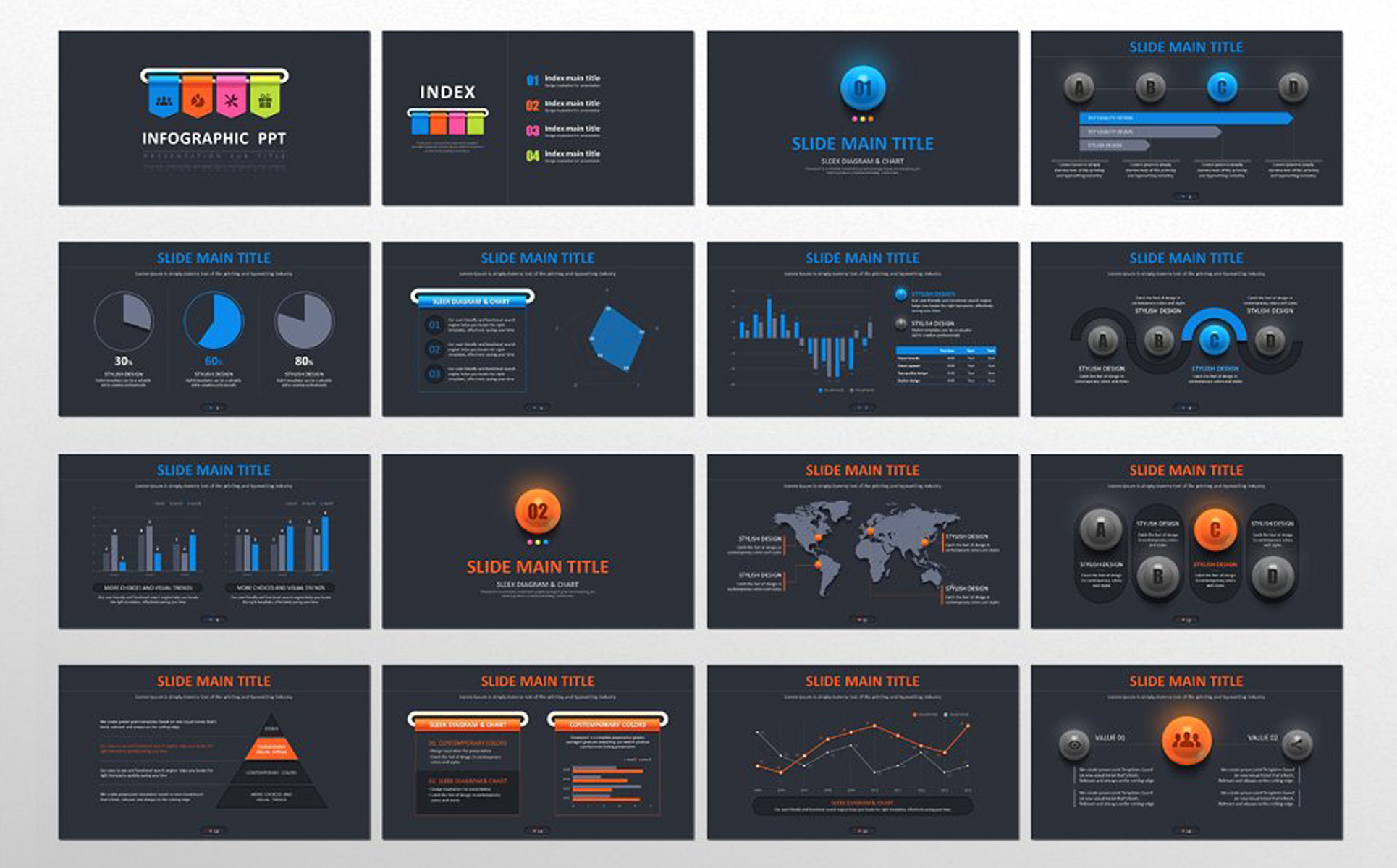 Infographic PPT PowerPoint Template