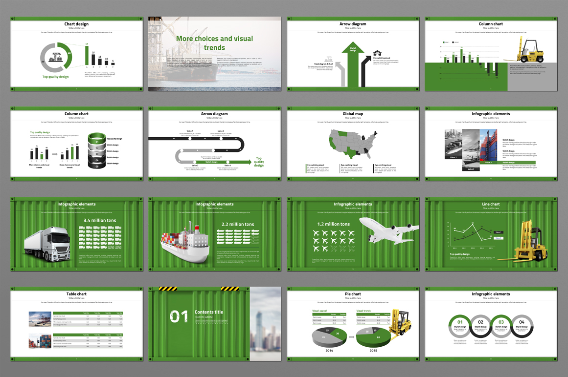 Box Container PowerPoint Template