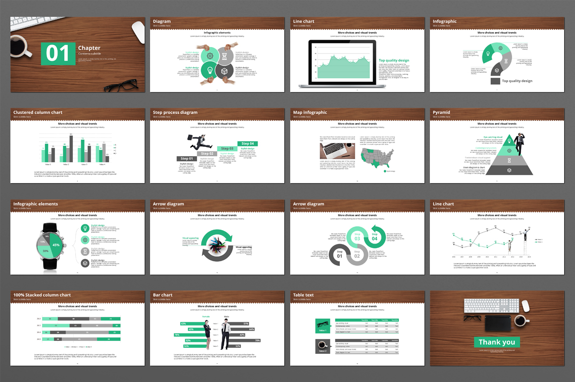 Office Supplies PowerPoint Template