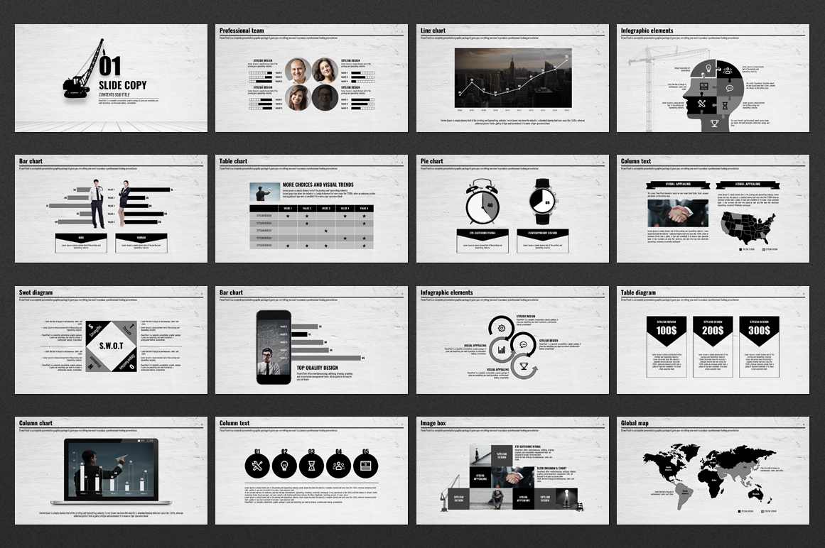 A Flock of Ideas PowerPoint Template