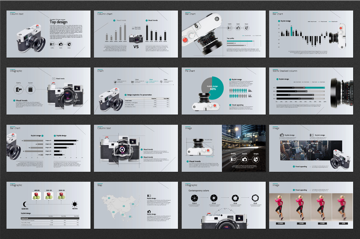 Camera PPT PowerPoint Template