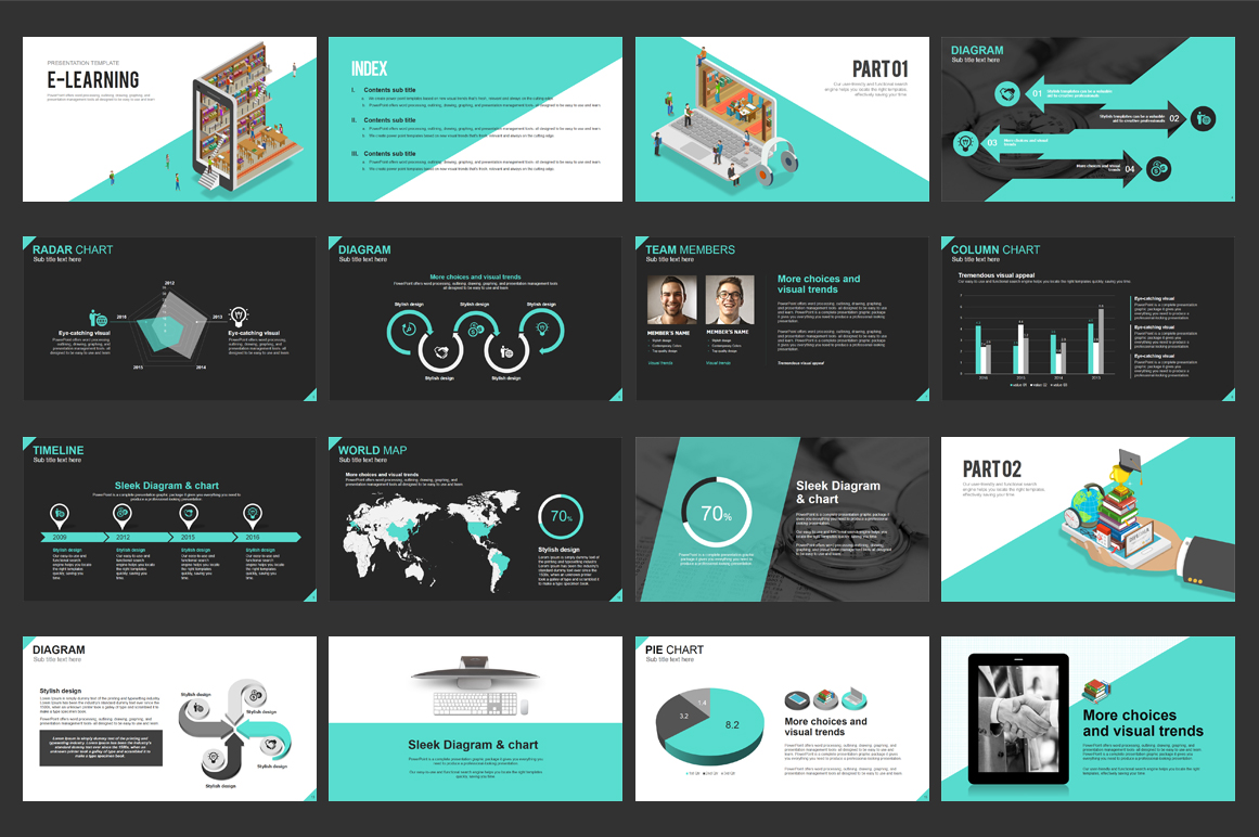 E-learning PPT PowerPoint Template
