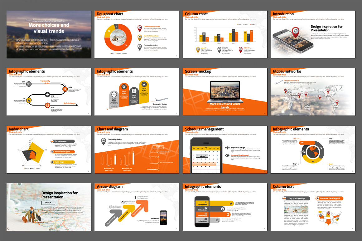 Smart Travel Map PowerPoint Template