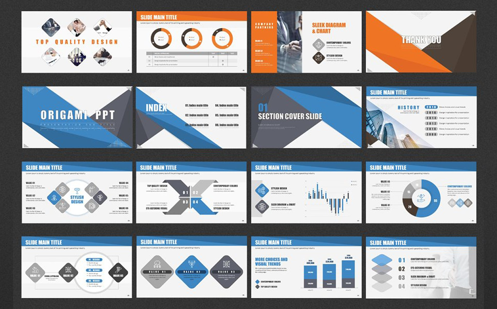 Origami PPT PowerPoint Template