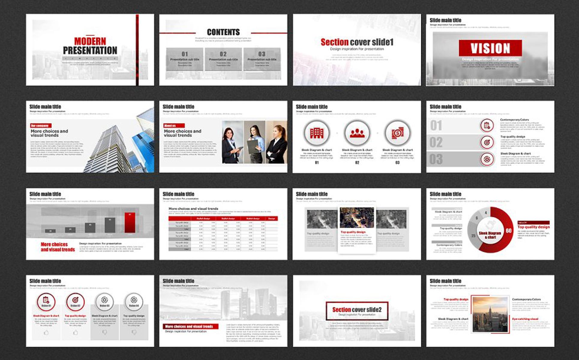 Modern Presantation PowerPoint Template