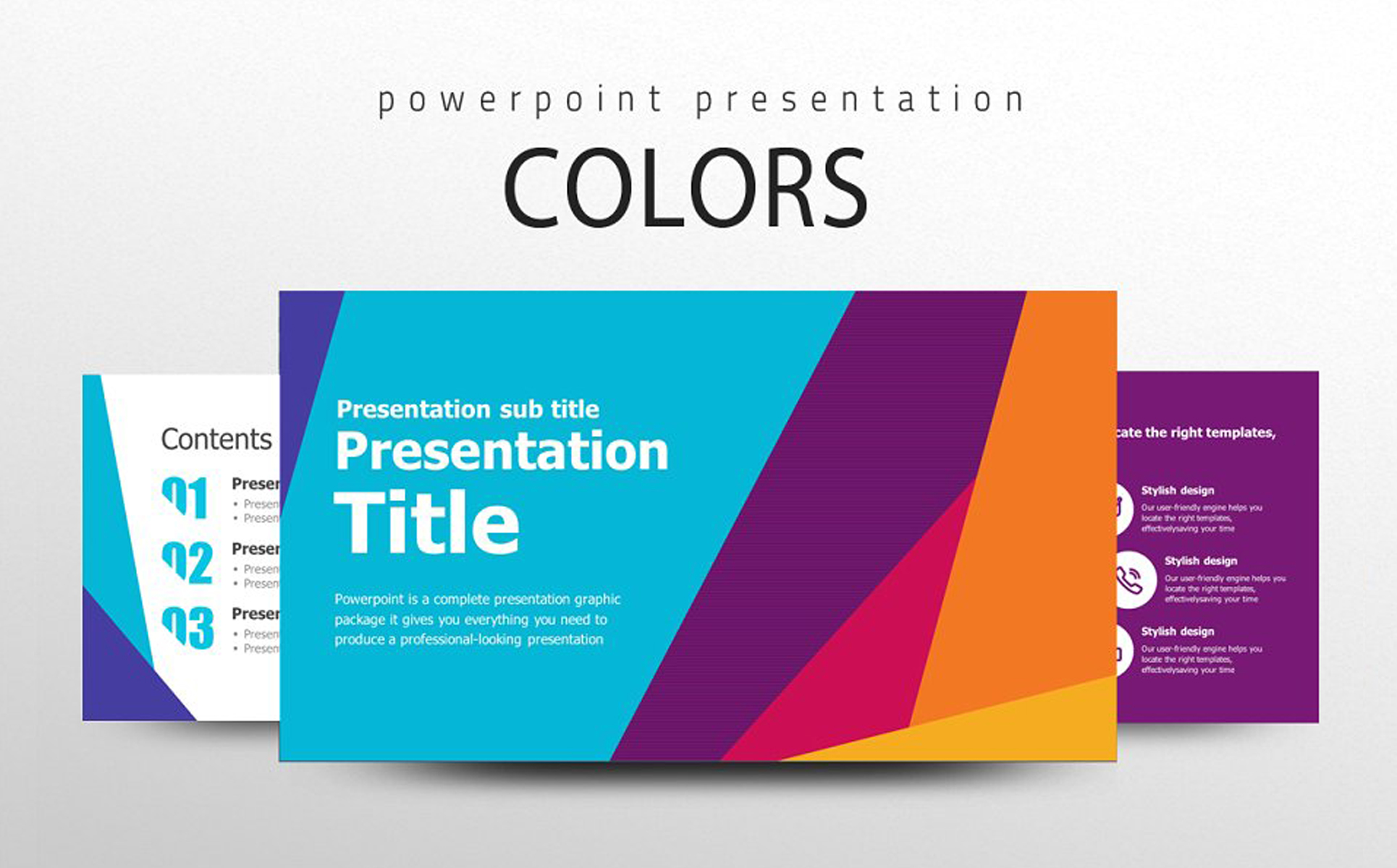 Colors PPT PowerPoint Template