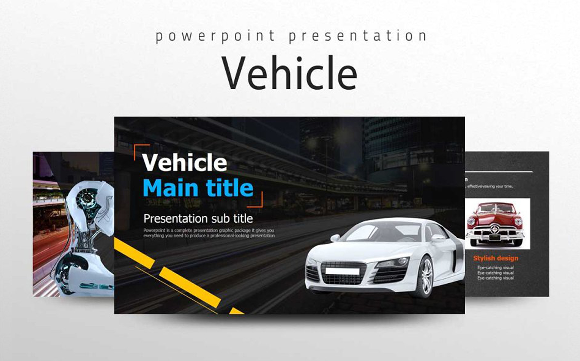 Vehicle Presentation PowerPoint Template