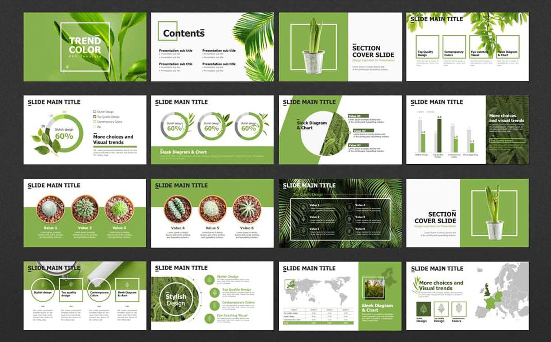 Trend Color PowerPoint Template