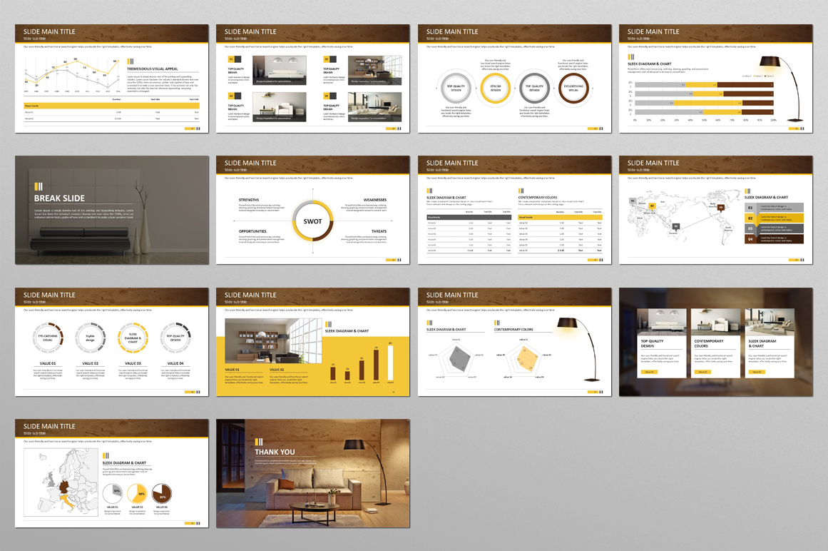 Interior Decoration PPT PowerPoint Template