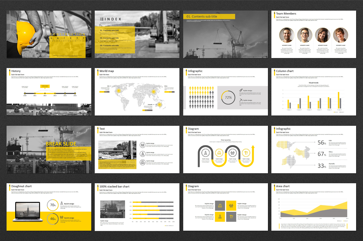 Construction Safety PPT PowerPoint Template