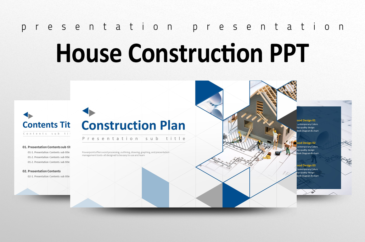 House Construction PPT PowerPoint Template